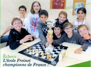 Ecole Freinet,  championne de France scolaire 2012