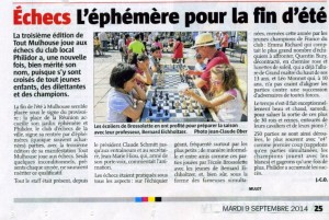 Article L'Alsace TMJE 2014