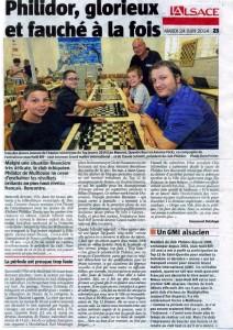 L'Alsace 24 juin 2014
